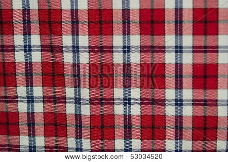 Red grid fabric texture