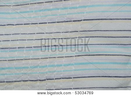 striped fabric texture with stitches
