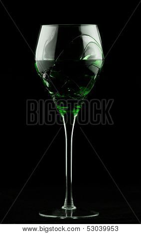 Wine Glass With Green Potion