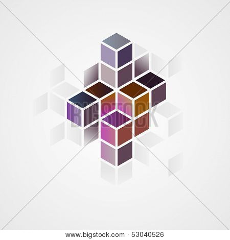 3d abstract shape, vector illustration
