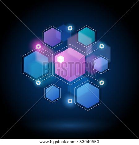 Molecule, eps10 vector
