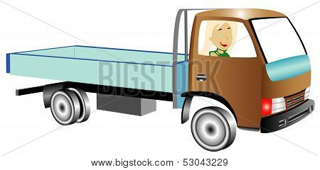 Truck With Woman