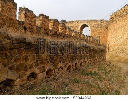 Battlements, Castle Of Montalban, San Martin De Montalban, Toledo, Castilla-la Mancha,