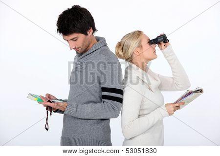Couple orienteering