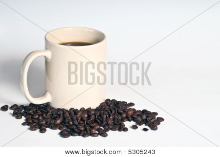 Fresh Coffee On White Background