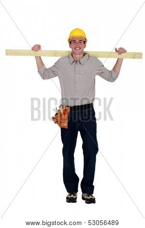 Young eager carpenter