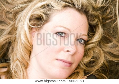 Pretty Woman Portrait Blond Hair