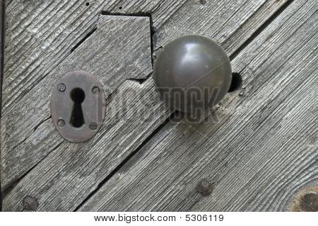 Antigo buraco da fechadura