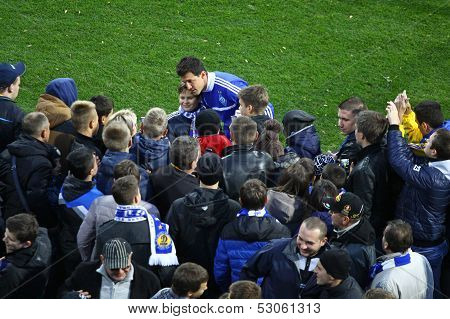 Danilo Silva Of Dynamo Kyiv Gives Autographs
