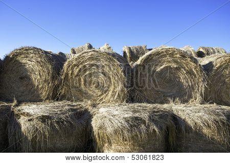 Stacked Hay Bundles.