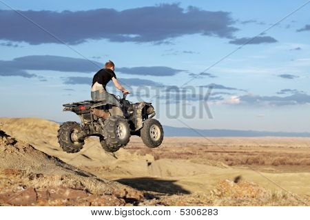 Teen On Quad - Four Wheeler