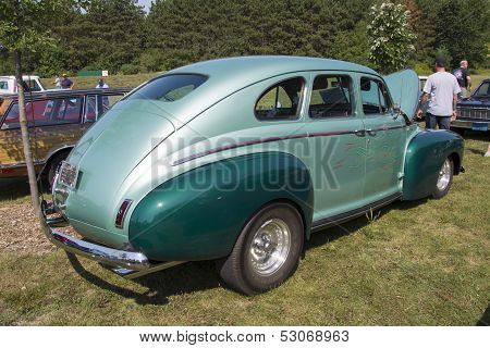 1941 Nash Ambassador Aqua Blue Car Side View