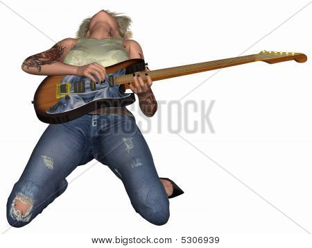 Popstar with Guitar