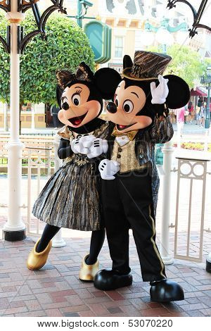 Mickey Mouse And Minnie Mouse.