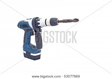 Angled View Of Battery Powered Drilling Machine