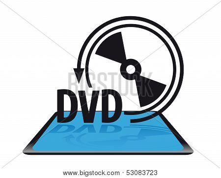 Modern dvd icon