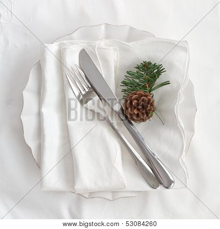 Table Place Setting For Christmas