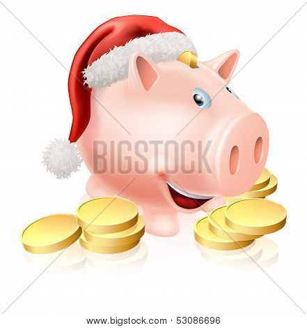 Saving For Christmas Concept