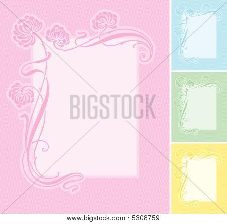 Floral Label Background (vector)