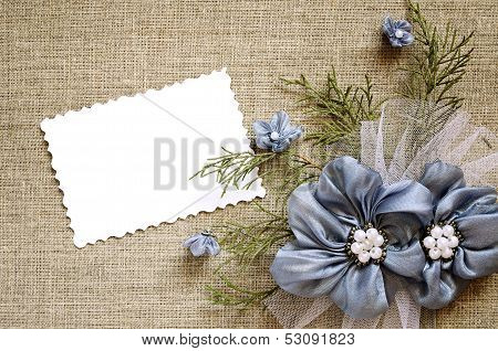 .background With A Flower Decoration And A Card