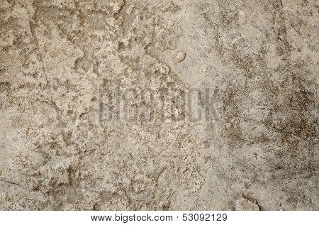 Uneven concrete floor