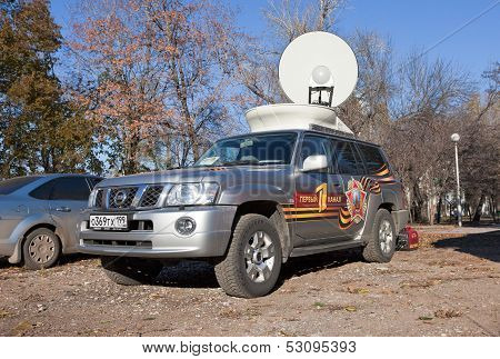 Samara, Russia - November 7: Mobile Television Station First Channel On November 7, 2011 In Samara,
