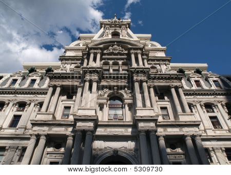 Philadelphia City Hall And Storm Cloud
