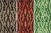 pic of serpent  - Set of seamless snakeskin pattern in three color variations drawn with linear gradients - JPG
