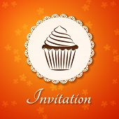 pic of applique  - Invitation applique card  - JPG