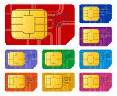 stock photo of micro-sim  - Creative abstract mobile telecommunication wireless technology and mobility business concept - JPG