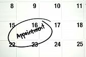 Word Appointment Circled On Calendar