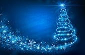 stock photo of glitter sparkle  - Christmas Tree - JPG