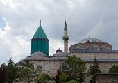 stock photo of sufi  - The Mevlana Museum located in Konya Turkey is the mausoleum of Jalal ad - JPG