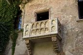 foto of juliet  - The famous balcony of Romeo and Juliet in Verona Italy - JPG