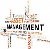 image of asset  - A word cloud of asset management related items - JPG
