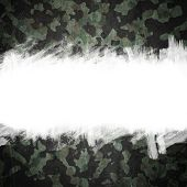 stock photo of camo  - Grunge military camouflage background with space for your text - JPG