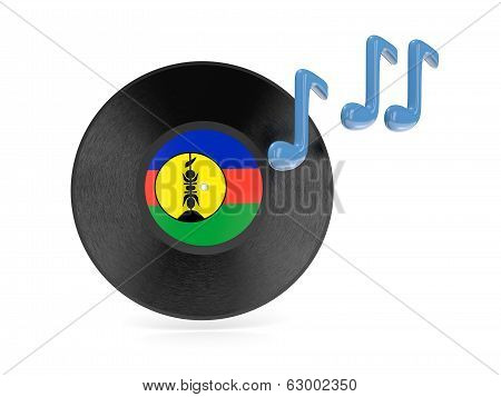 Vinyl Disk With Flag Of New Caledonia