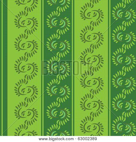 vector seamless green pattern