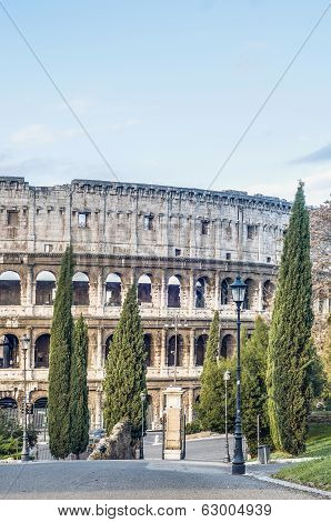 The Colosseum, Or The Coliseum In Rome, Italy