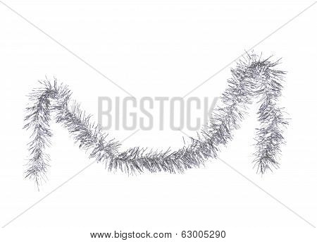 Christmas silver tinsel.