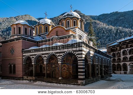 The Rila Monastery In Bulgaria