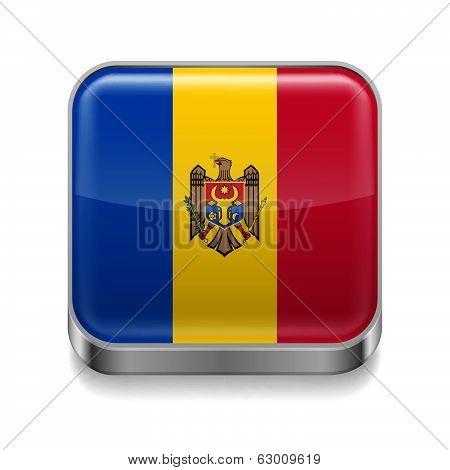Metal  icon of Moldova