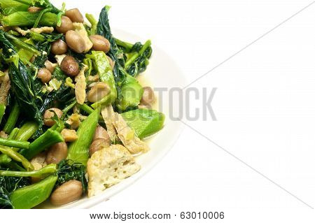 Morning Glory And Spinach Fried Vegetarian