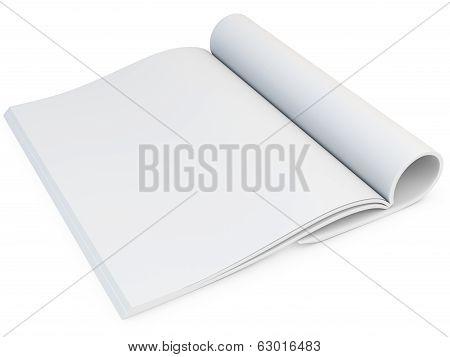 3D Model Of Blank Opened Magazine