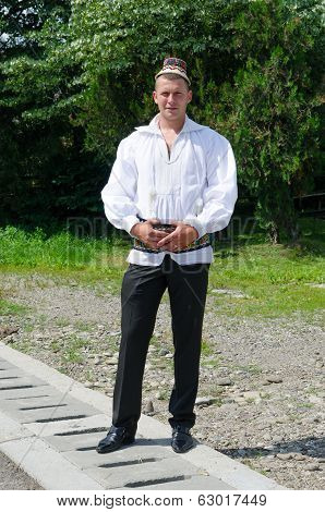 Young Man in traditional clothing, Maramures