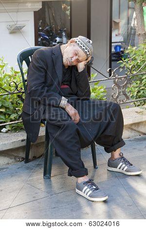 Old Man Asleep