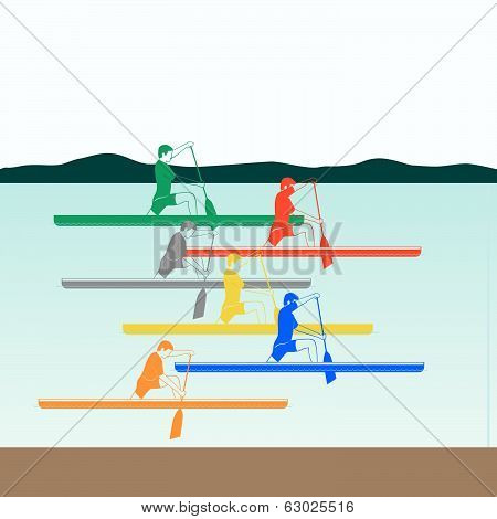 Competitions in rowing and canoeing