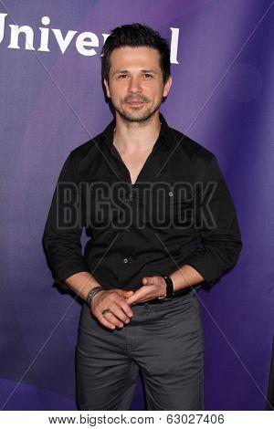 LAS VEGAS - APR 8:  Freddy Rodriguez at the NBCUniversal Summer Press Day at Huntington Langham Hotel on April 8, 2014 in Pasadena, CA