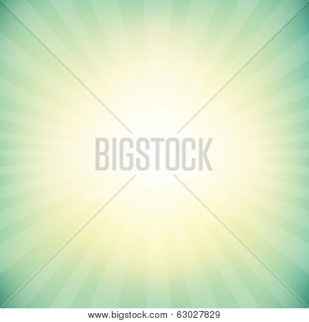 Vintage Sunburst Background With Bokeh, With Gradient Mesh, Vector Illustration