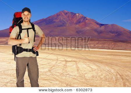 Traveller In The Desert